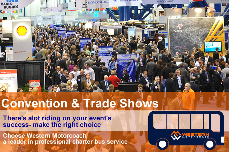 Get Reliable Shuttle Services for your Attendees for your Convention or Trade Show